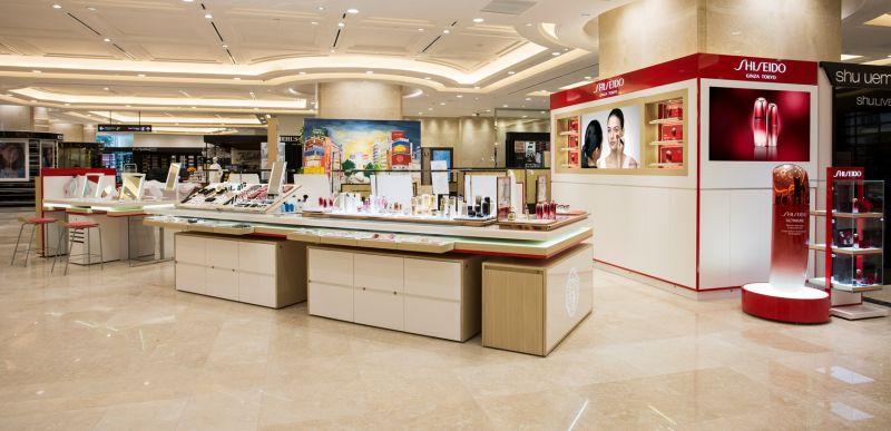 cửa hàng Shiseido với thiết kế mới tại Takashimaya