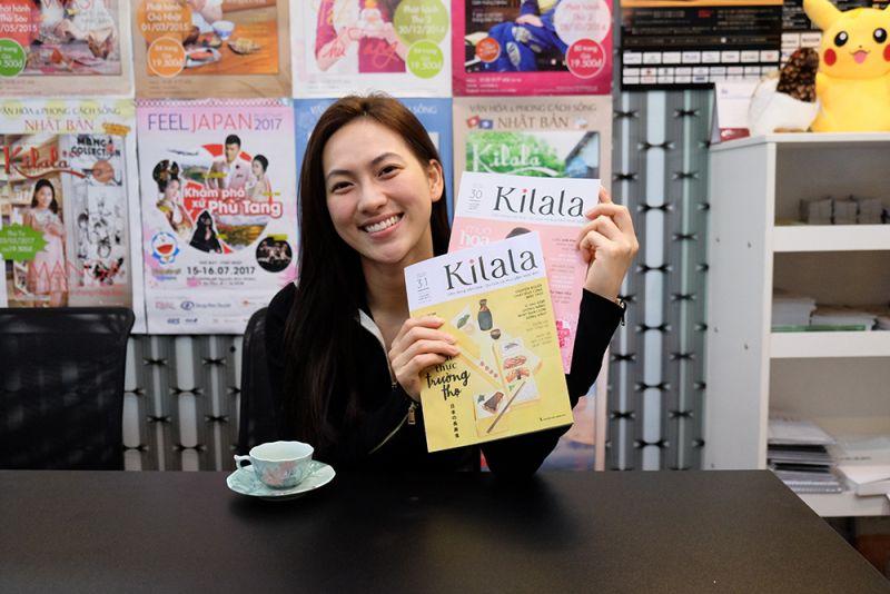 Phương Anh Đào tại văn phòng Kilala