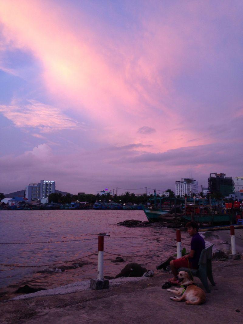 Cảnh hoàng hôn Sài Gòn