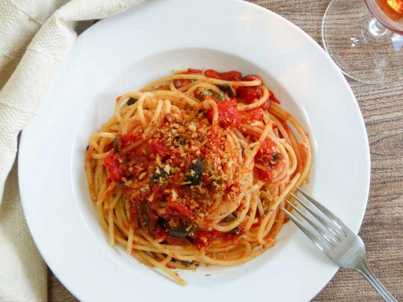 Puttanesca - mỳ Supagetti kiểu Nhật