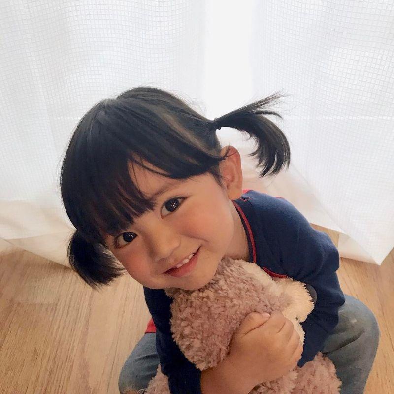 tóc mái ở trẻ con Nhật Bản