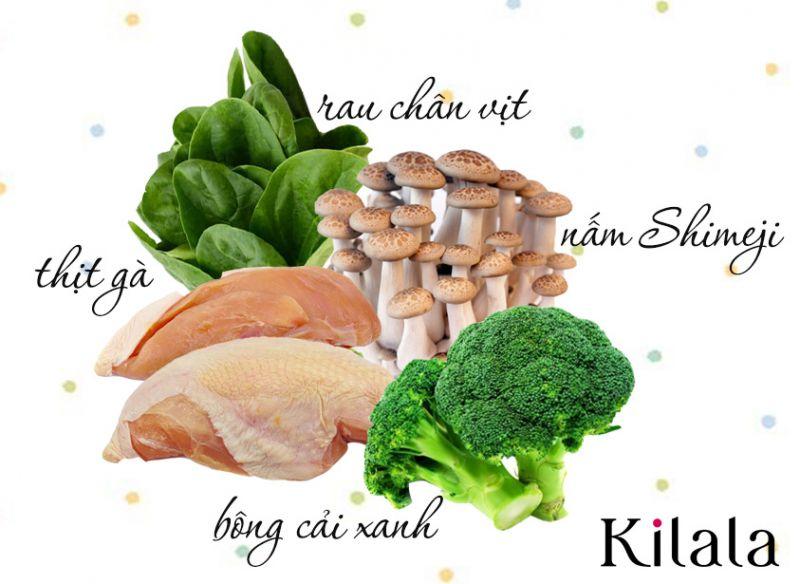 nguyên liệu món Ohitashi Salad