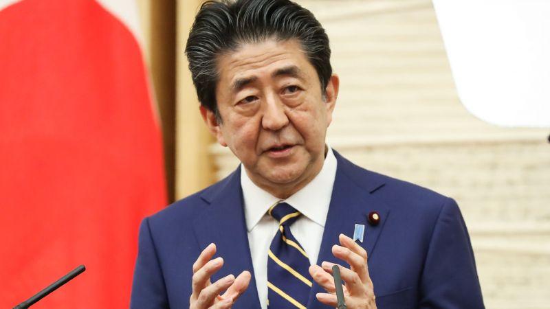 Ông Shinzo Abe phát biểu