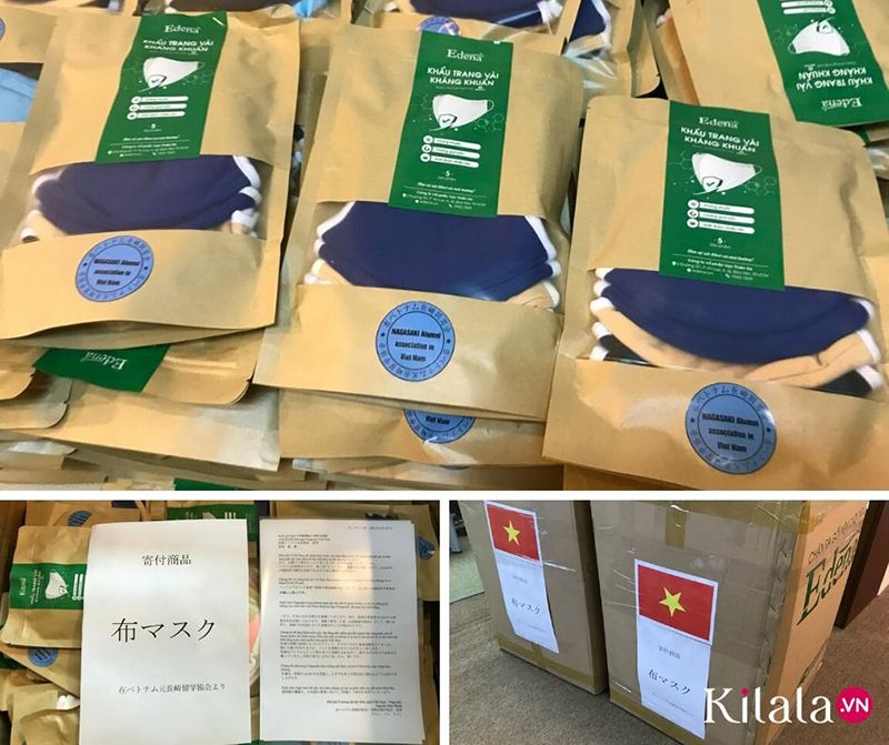 Hội hữu nghị Nagasaki - Việt Nam đóng góp khẩu trang cho tỉnh Nagasaki