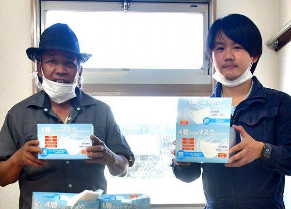 Người Việt Nam ở Nhật tặng khẩu trang