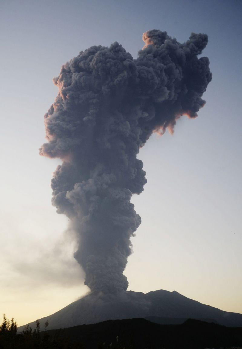 núi lửa ở sakurajima