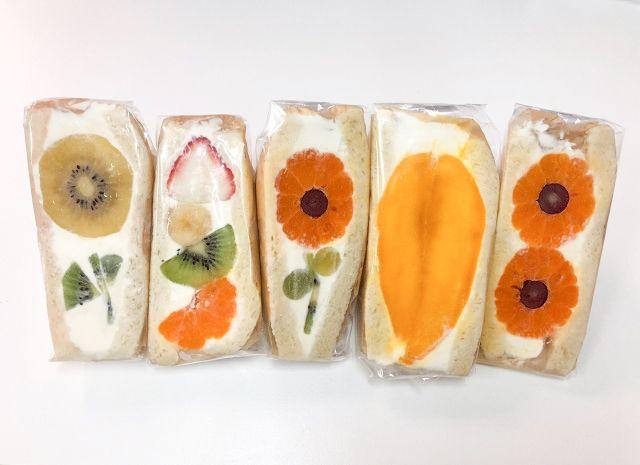 sandwich trái cây tại cửa hàng Nhật Bản
