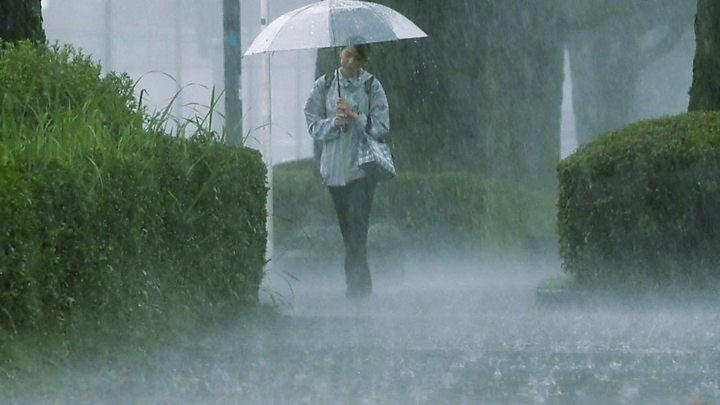 dự báo mưa lớn diện rộng trên toàn Nhật Bản