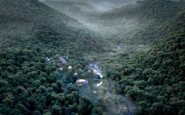 xuất hiện khu cắm trại đẹp như làng Emishi