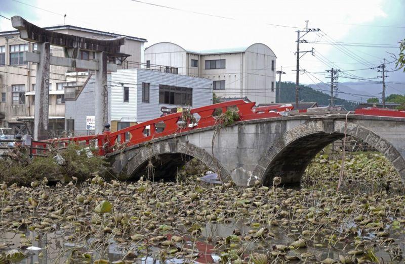 Di sản văn hóa bị thiệt hại do mưa lớn ở Kyushu