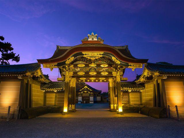 Lễ hội ánh sáng tại lâu đài Nijo