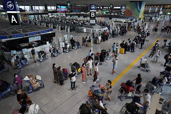 kiểm tra tại sân bay narita