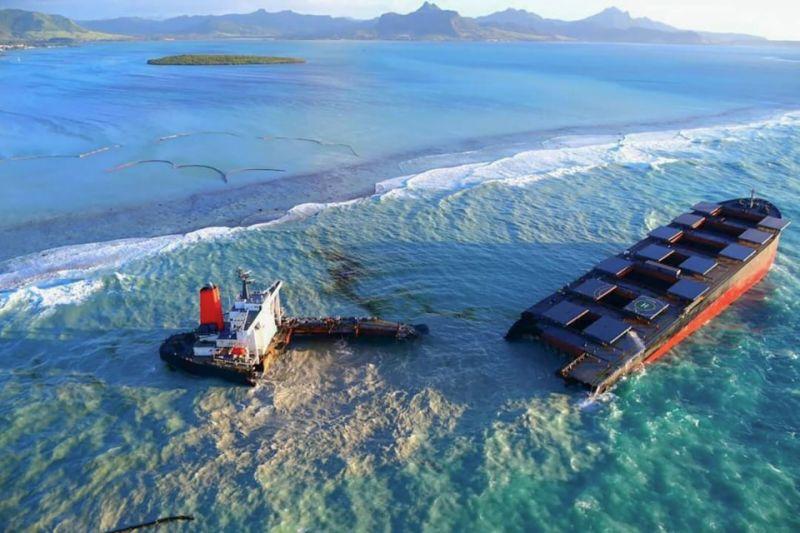 cộng hòa Mauritius đòi chủ tàu Nhật Bản bồi thường vì rò rỉ dầu