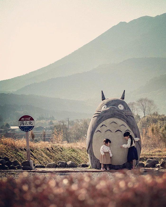 tượng Totoro khổng lồ của cặp vợ chồng U70