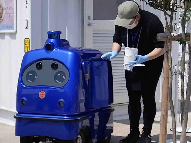 robot giao hàng được phép thông hành ở Nhật Bản
