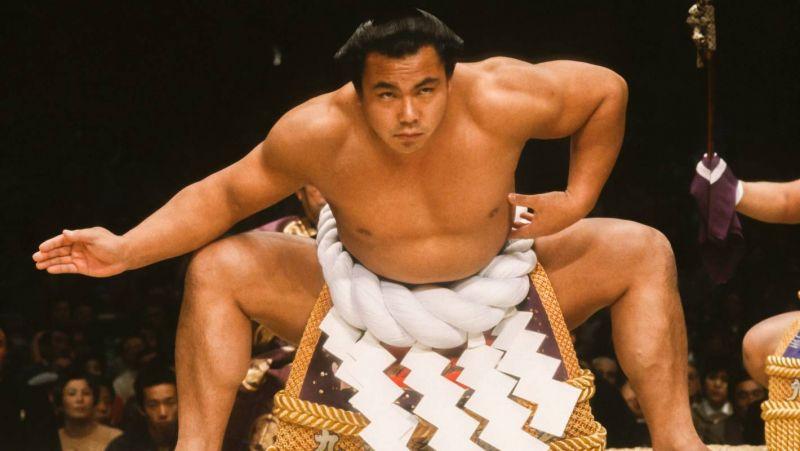 tranh chân dung của cựu vô địch Sumo được trưng bày tại nhà ga Tokyo