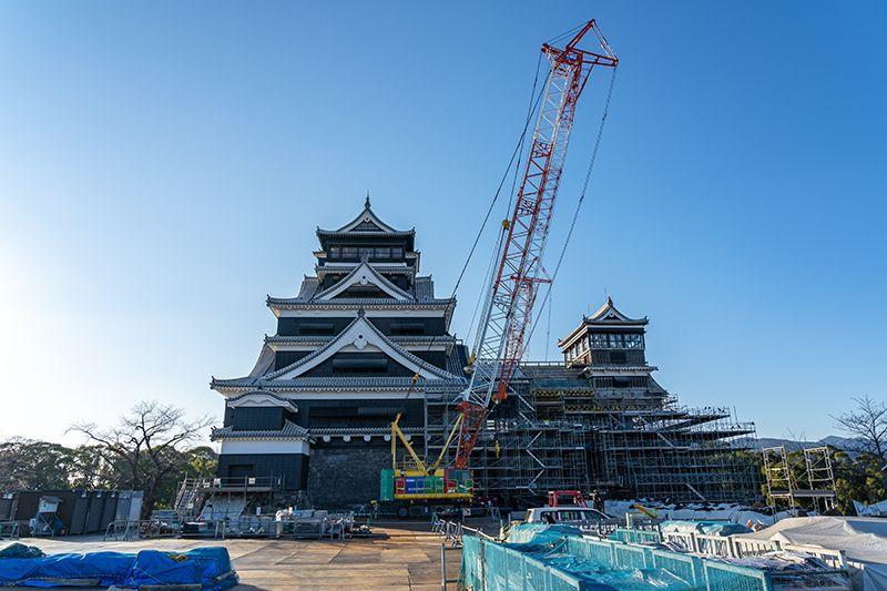 Lâu đài Kumamoto phục hồi sau trận động đất năm 2016