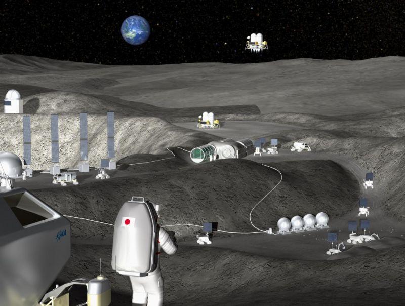 Nhật sử dụng nước trên mặt trăng để làm nhiên liệu