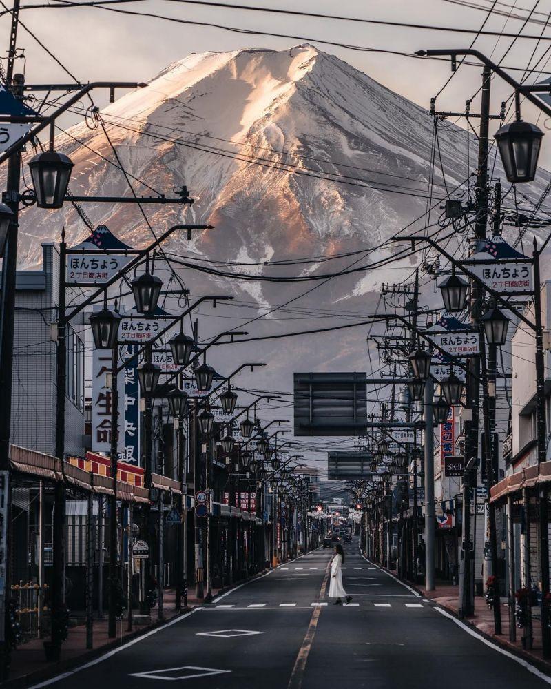 khung cảnh ở fujiyoshida