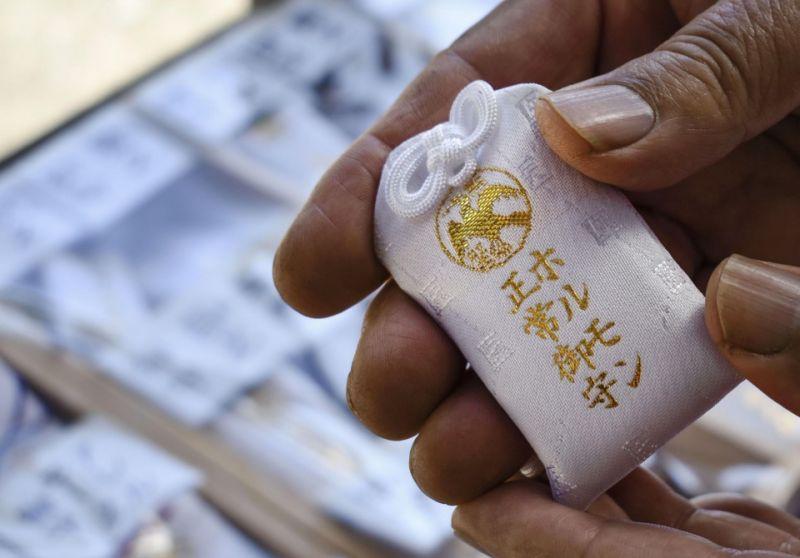 bùa sức khỏe ở đền Nihon Daiichi Kumano
