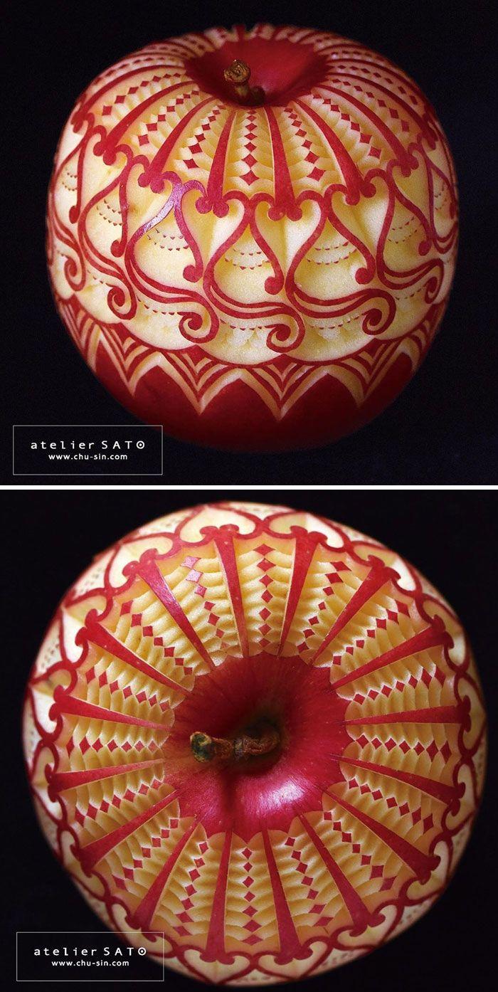 điêu khắc trái cây củ quả