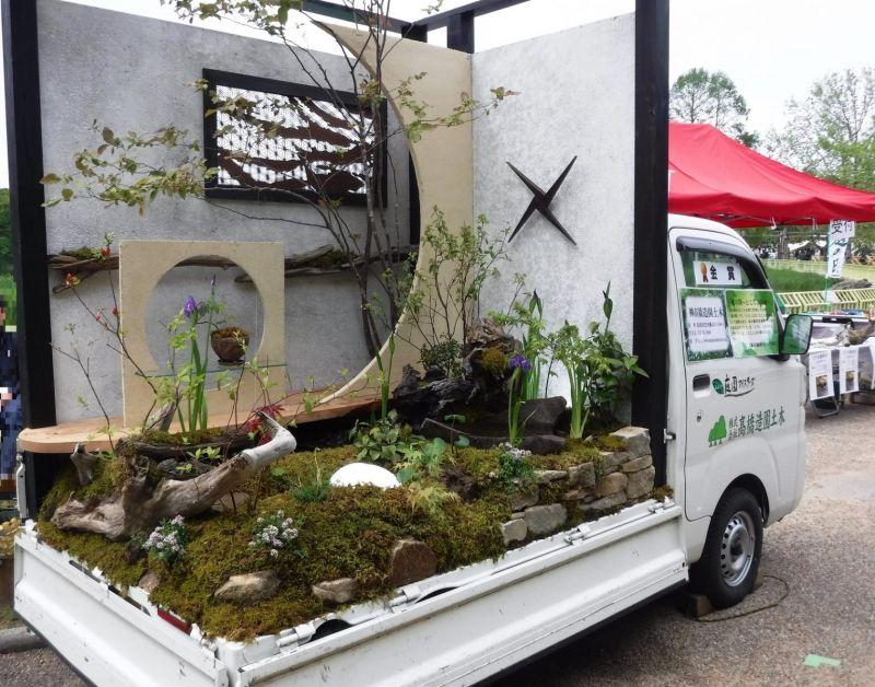 Ở Nhật có hẳn một cuộc thi làm vườn trên xe tải nhỏ