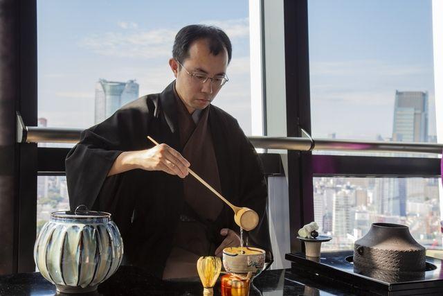 trà đạo trên tháp tokyo
