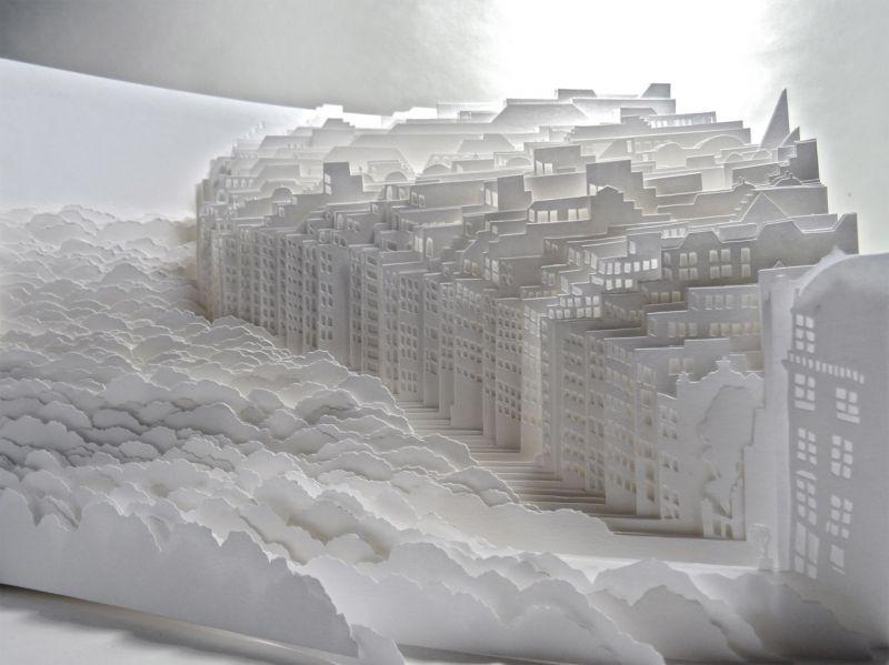 nghệ sĩ người Nhật dựng lên những thành phố từ giấy