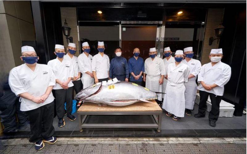giá cá ngừ giảm mạnh trong buổi đấu giá đầu năm