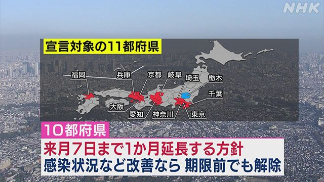 Nhật Bản xem xét gia hạn tuyên bố khẩn cấp ở 10 tỉnh