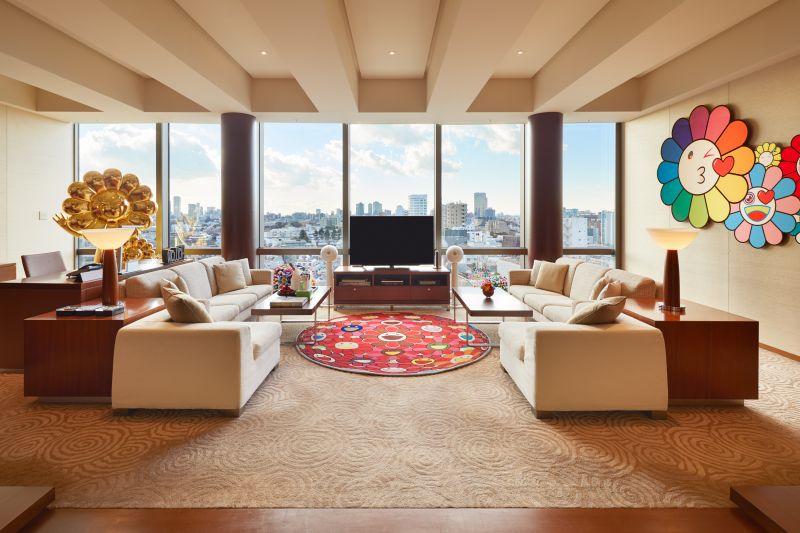 phòng khách sạn phong cách Takashi Murakami tại Grand Hyatt