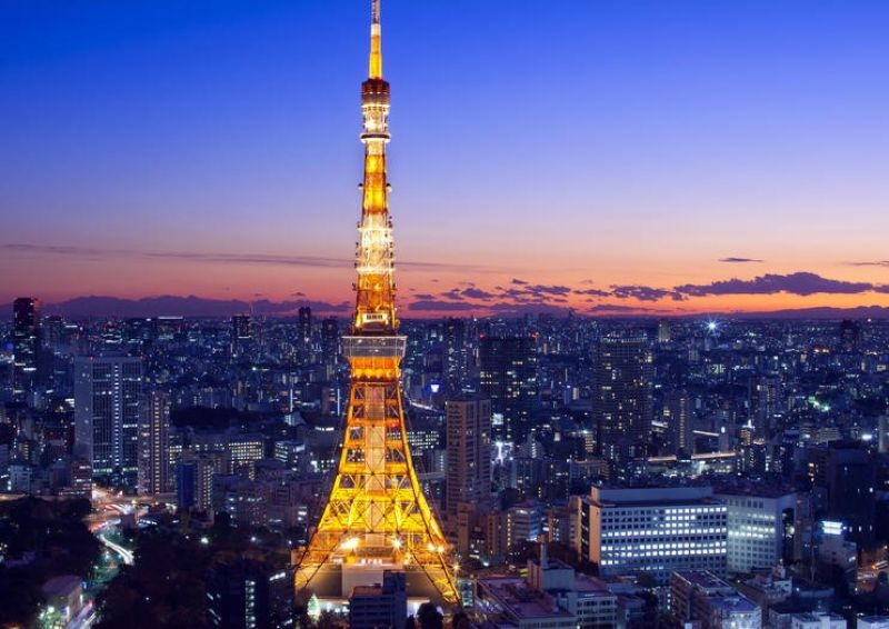 tháp Tokyo biểu tượng của nước Nhật hiện đại