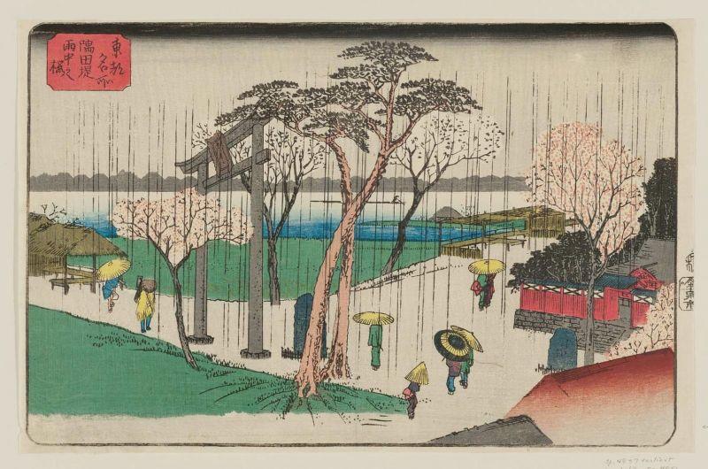 văn hóa thưởng hoa anh đào của người Nhật xưa qua tranh ảnh
