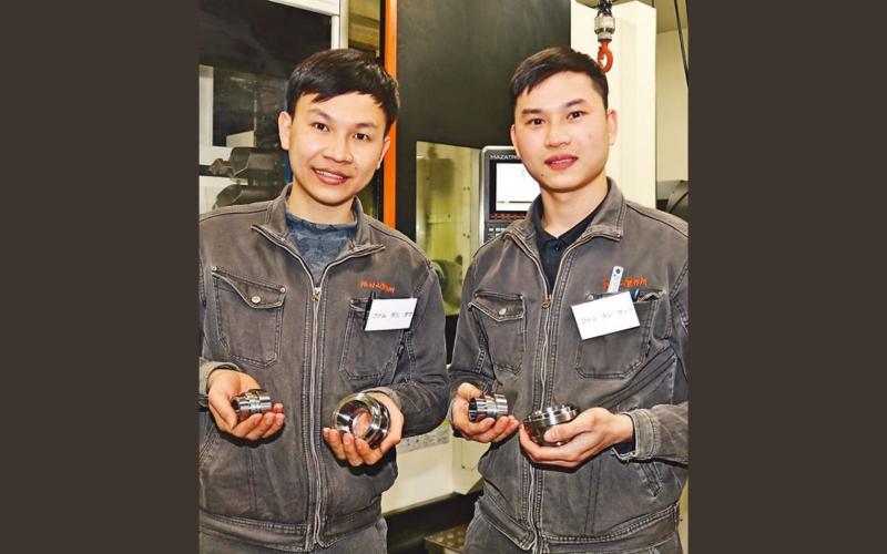 thực tập sinh Việt đỗ kỳ thi gia công máy tiện Nhật Bản