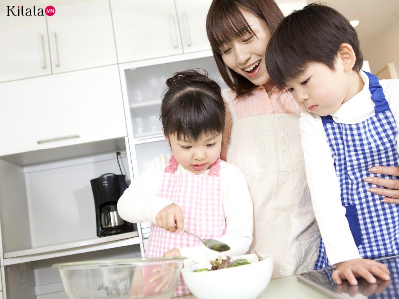 trẻ con làm việc nhà sẽ được nuôi dưỡng những kỹ năng gì