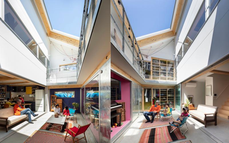 kiến trúc nhà không mái độc đáo của đôi vợ chồng Nhật Bản