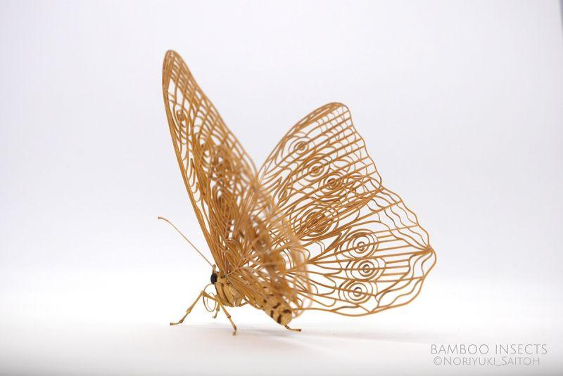 nghệ nhân tạo hình côn trùng bằng tre sống động như thật