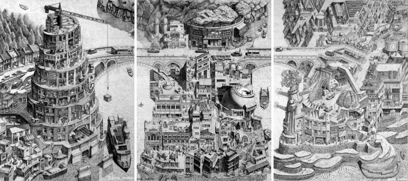 Nhật Bản hiện đại và hoài cổ qua tranh chì của họa sĩ Yota