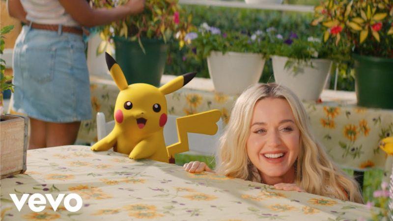 pikachu xuất hiện trong MV Electric của ngôi sao Katy Perry