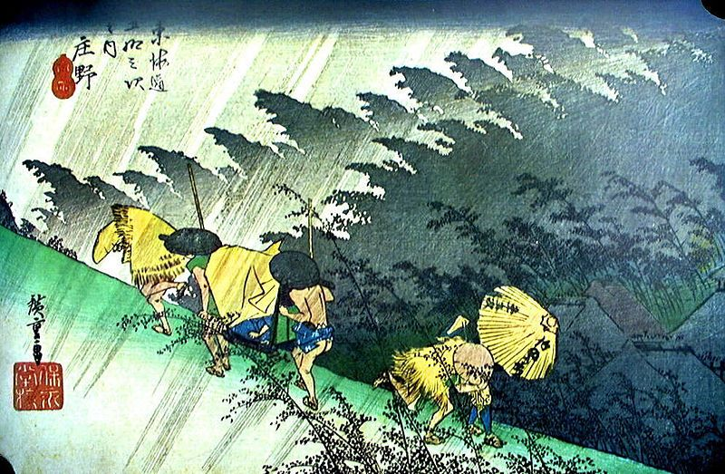 mùa mưa Nhật Bản qua tranh Ukiyo e