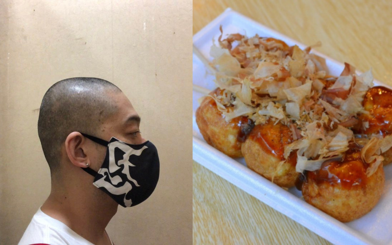 takoyaki tại osaka cạo trọc đầu để xin lỗi khách