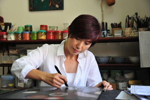 Trong thế giới sơn mài của Saeko Ando